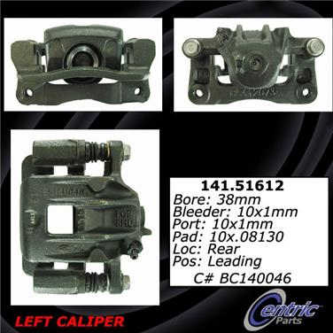 2001 Hyundai Santa Fe Disc Brake Caliper CENTRIC PARTS 141.51612