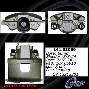 2002 Chrysler 300M Disc Brake Caliper CENTRIC PARTS 141.63059