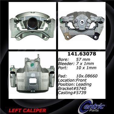 2012 Jeep Compass Disc Brake Caliper CENTRIC PARTS 141.63078