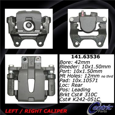 2006 Dodge Magnum Disc Brake Caliper CENTRIC PARTS 141.63536