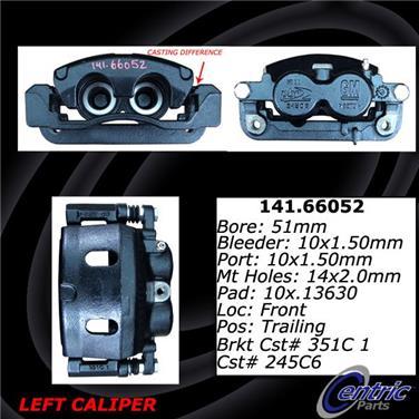 2012 Cadillac Escalade EXT Disc Brake Caliper CENTRIC PARTS 141.66052