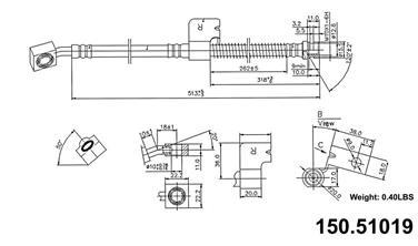 2004 Hyundai Tiburon Brake Hydraulic Hose CENTRIC PARTS 150.51019
