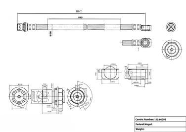 2004 Chevrolet Blazer Brake Hydraulic Hose CENTRIC PARTS 150.66092