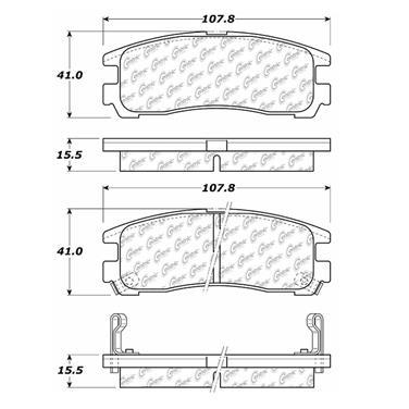 2000 Mitsubishi Galant Disc Brake Pad CENTRIC PARTS 300.03830