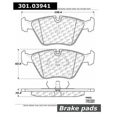 1990 Jaguar XJ6 Disc Brake Pad CENTRIC PARTS 301.03941