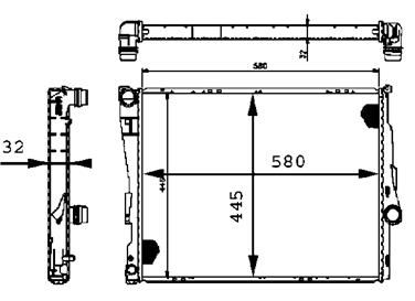 2003 BMW 330xi Radiator HELLA FOG LAMPS 376716271