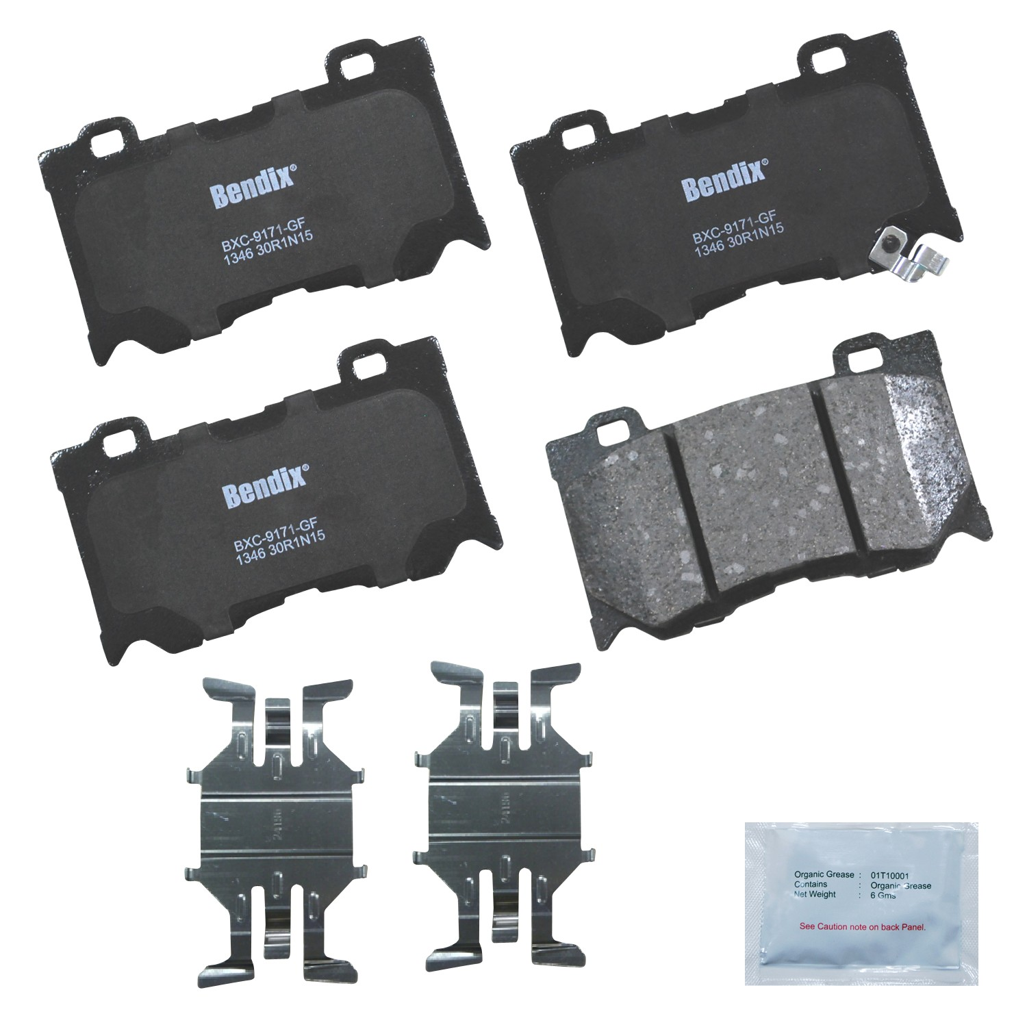 COMPLETE SET REAR BRAKE PAD CENTRIC 102.12870 FITS MERCEDES BENZ METALLIC