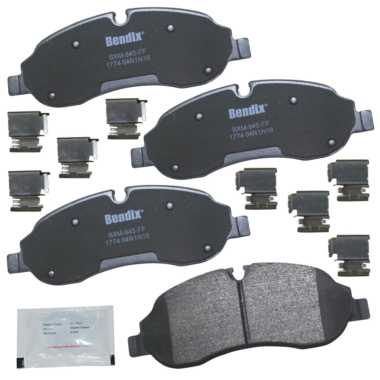 Disc Brake Pad Set-Stop Semi-Metallic Brake Pad Front Bendix SBM1774