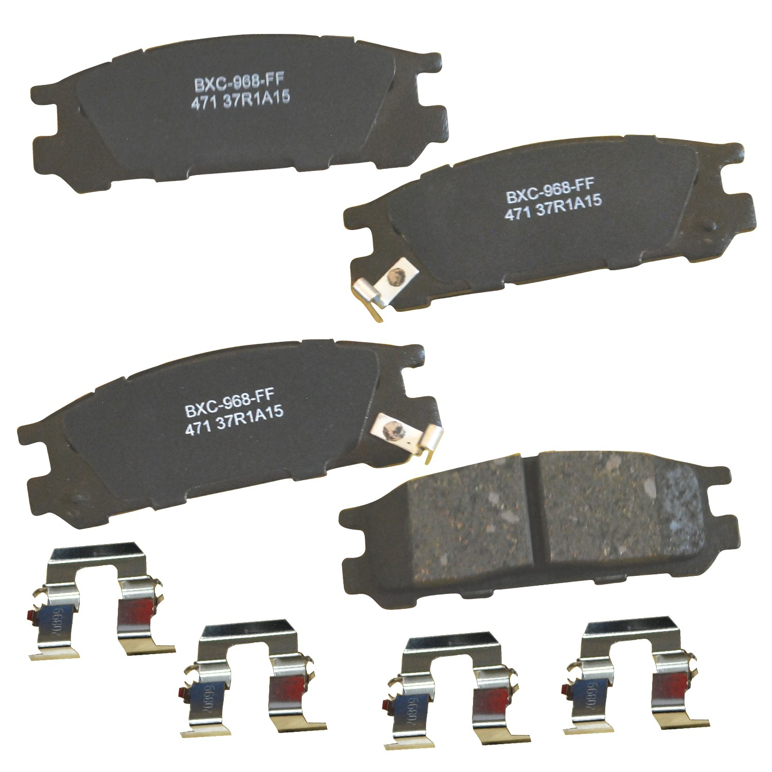 Wagner ThermoQuiet MX563 Semi-Metallic Disc Pad Set With Installation Hardware Front