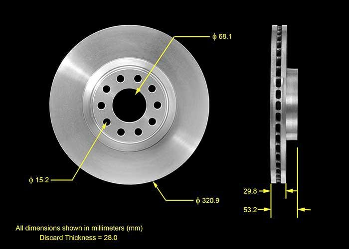 Left StopTech 127.33072L Sport Drilled /& Slotted Rotor