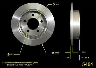 1992 Mercury Grand Marquis Disc Brake Rotor BQ PRT1547