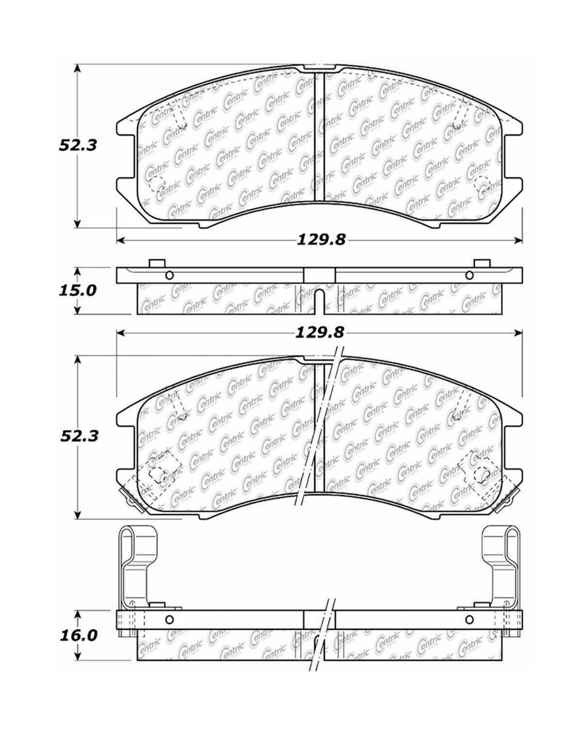 Pro Braking PBK4041-KAW-RED Front//Rear Braided Brake Line