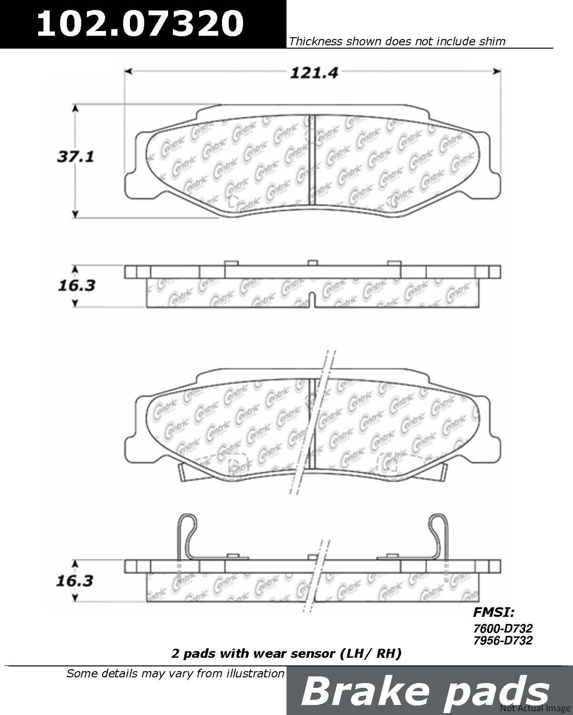 2006 Cadillac Xlr Disc Brake Pad Set Wiring Diagram Ce 10207320