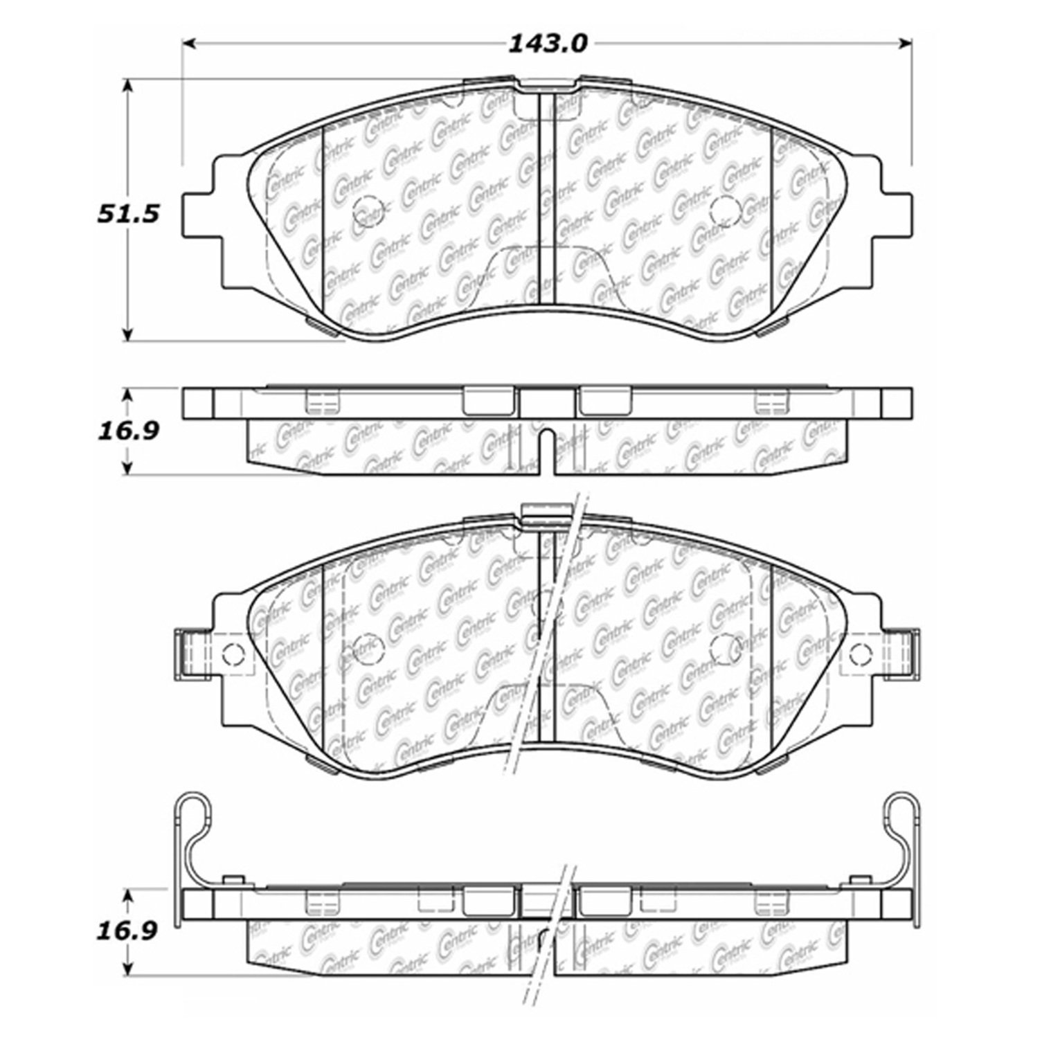2008 Suzuki Reno Disc Brake Pad Set CE 102.07970 ...