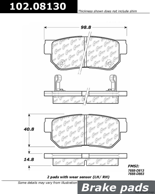 2004 Hyundai Xg350 Disc Brake Pad Set Xg300 Wiring Diagram Ce 10208130