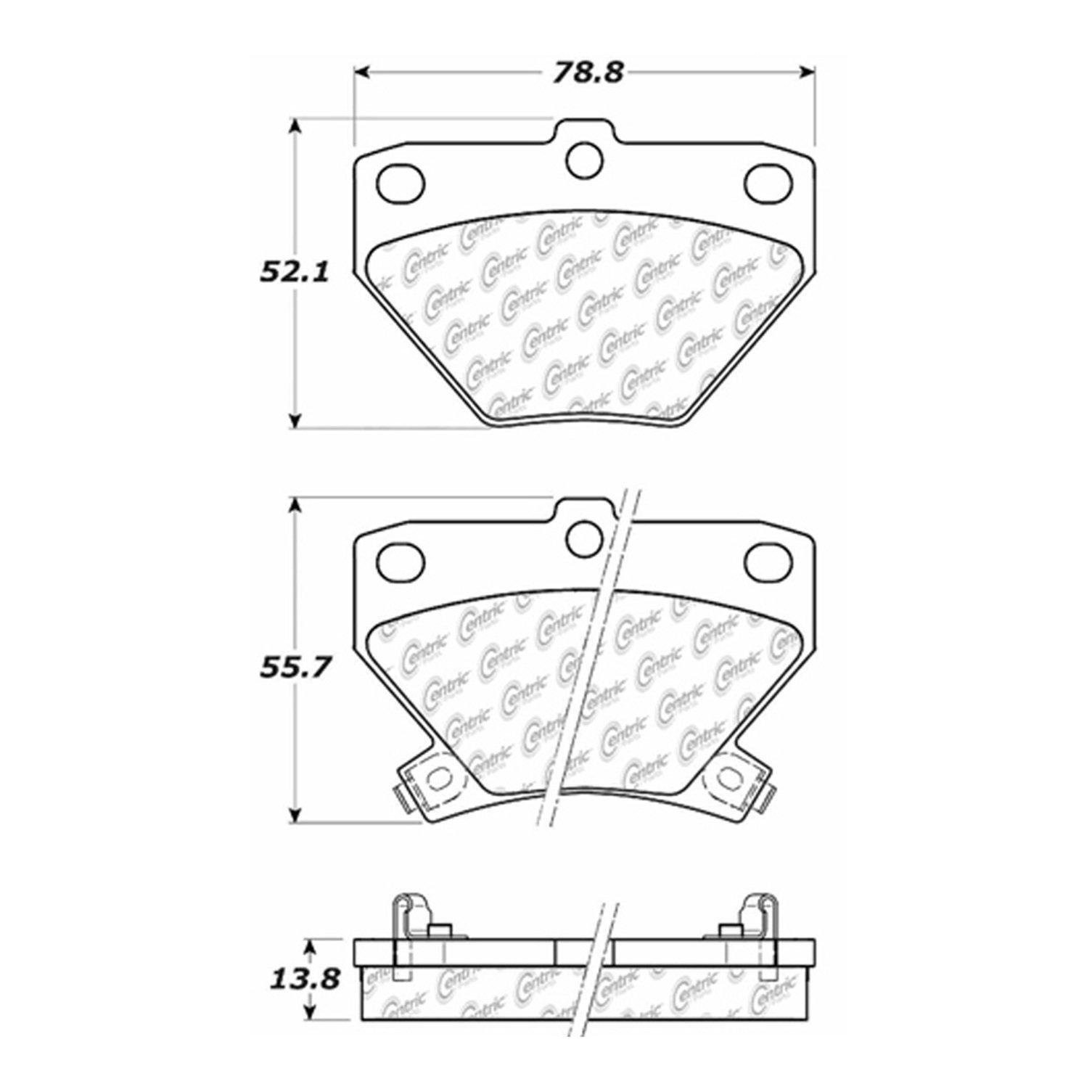 2004 Pontiac Vibe Disc Brake Pad Set Brakes Diagram Ce 10208230