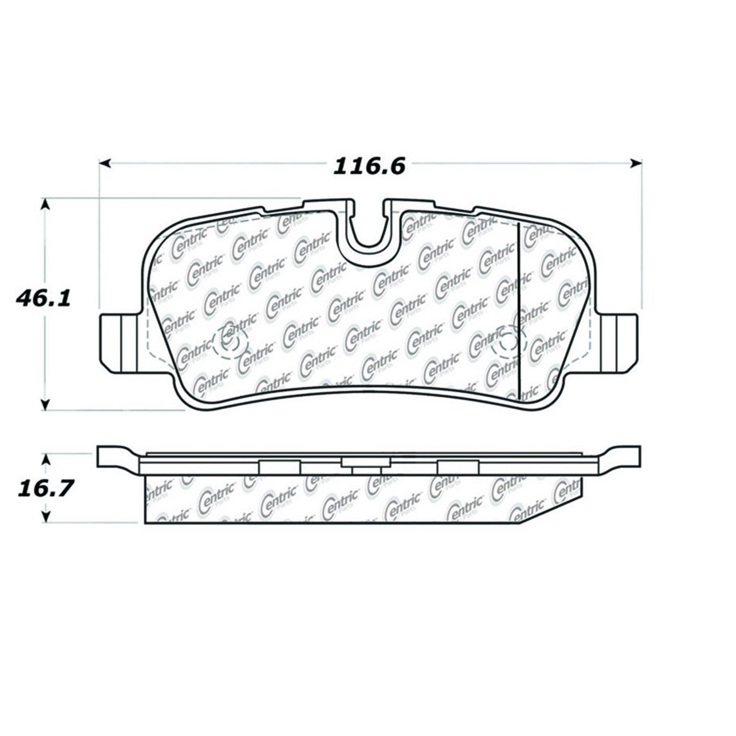 Metallic StopTech 102.13970 Brake Pad