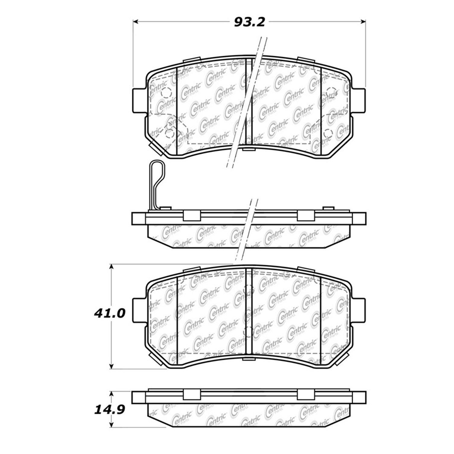 Disc Brake Pad Set-C-TEK Ceramic Brake Pads Rear Centric 103.11570