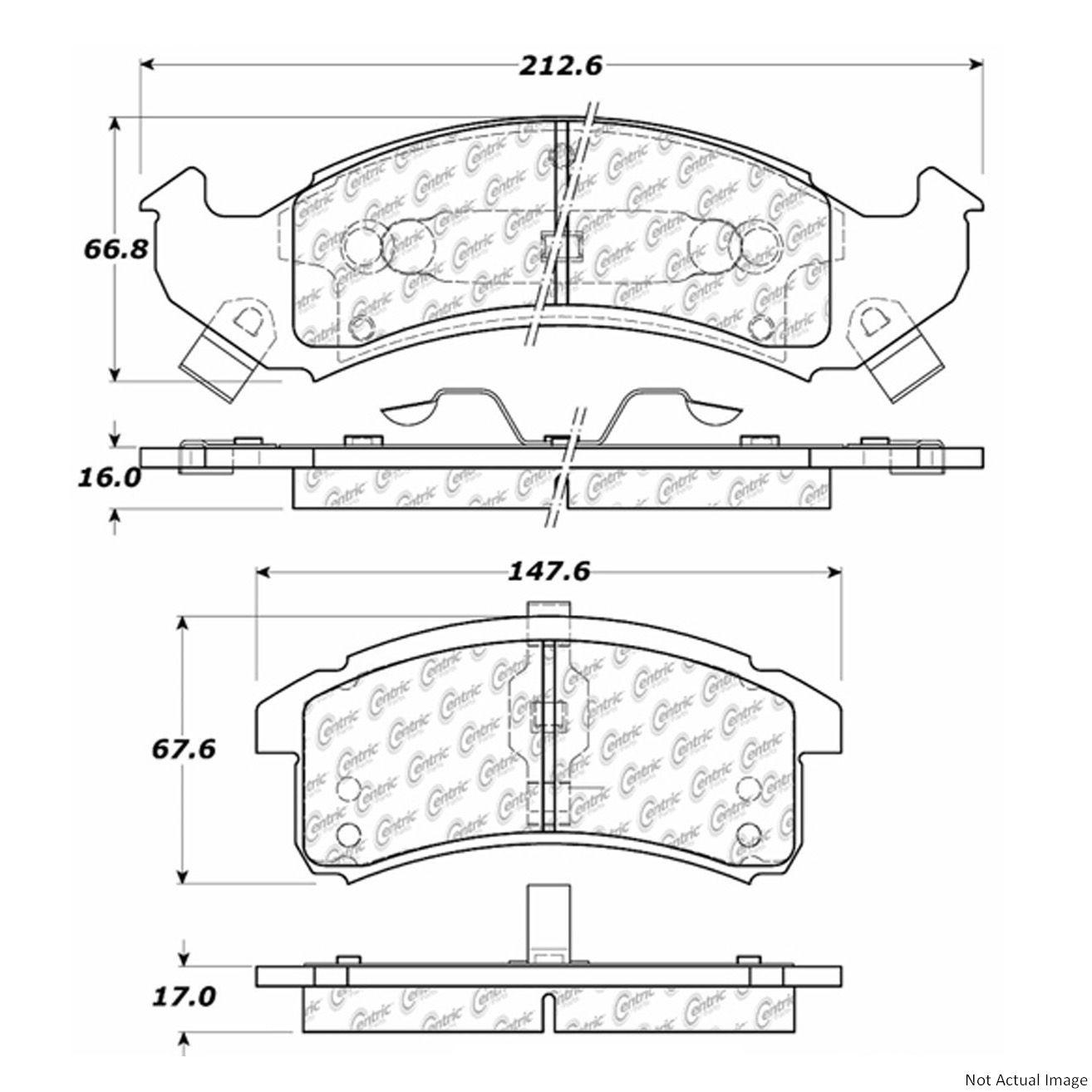 Oldsmobile Brakes Diagram Wiring Brake Pad Library1991 98 Disc Set Ce 103 05050
