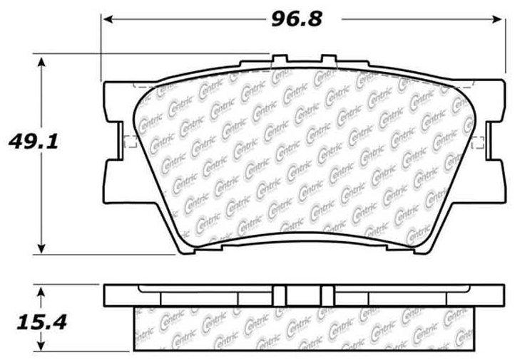 Disc Brake Pad Set Rear Centric 105.12120