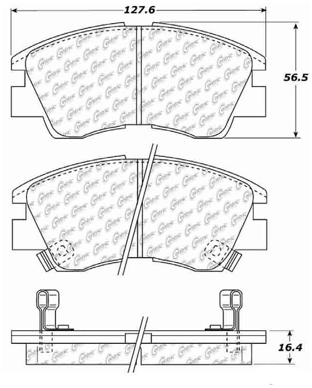 1988 Mitsubishi Mighty Max Disc Brake Pad Set