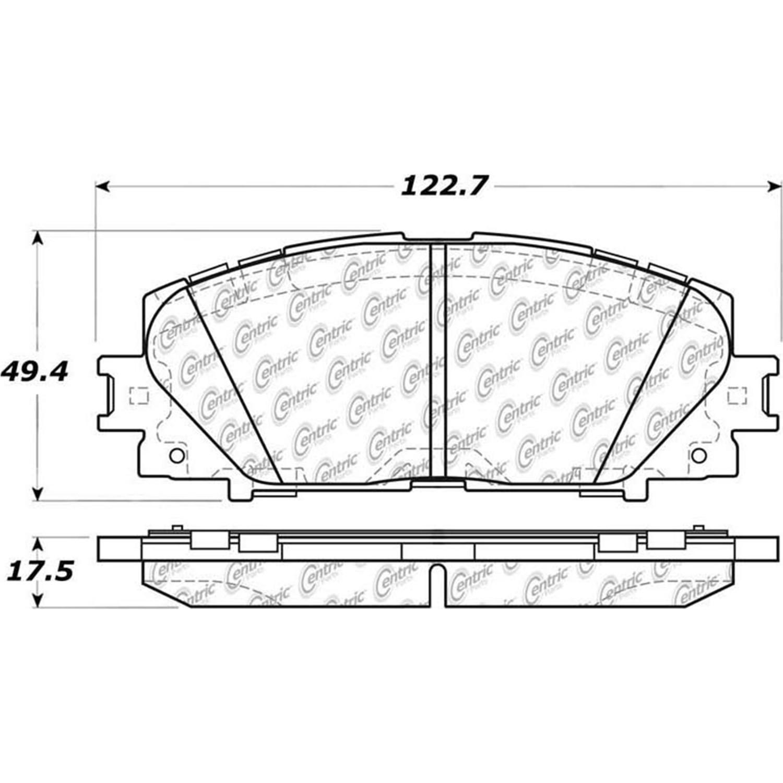 2016 Lexus Ct200h Disc Brake Pad Set Wiring Diagram Ce 10511841