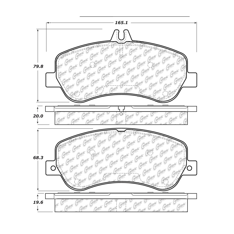 2014 Mercedes Benz Glk350 Disc Brake Pad Set Glk 350 Engine Diagram Ce 10514060