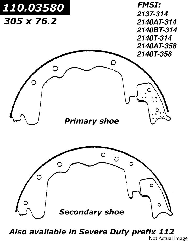 1991 Dodge D350 Drum Brake Shoe