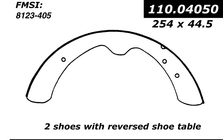 Drum Brake Shoe-Premium Brake Shoes-Preferred Rear Centric 111.05110