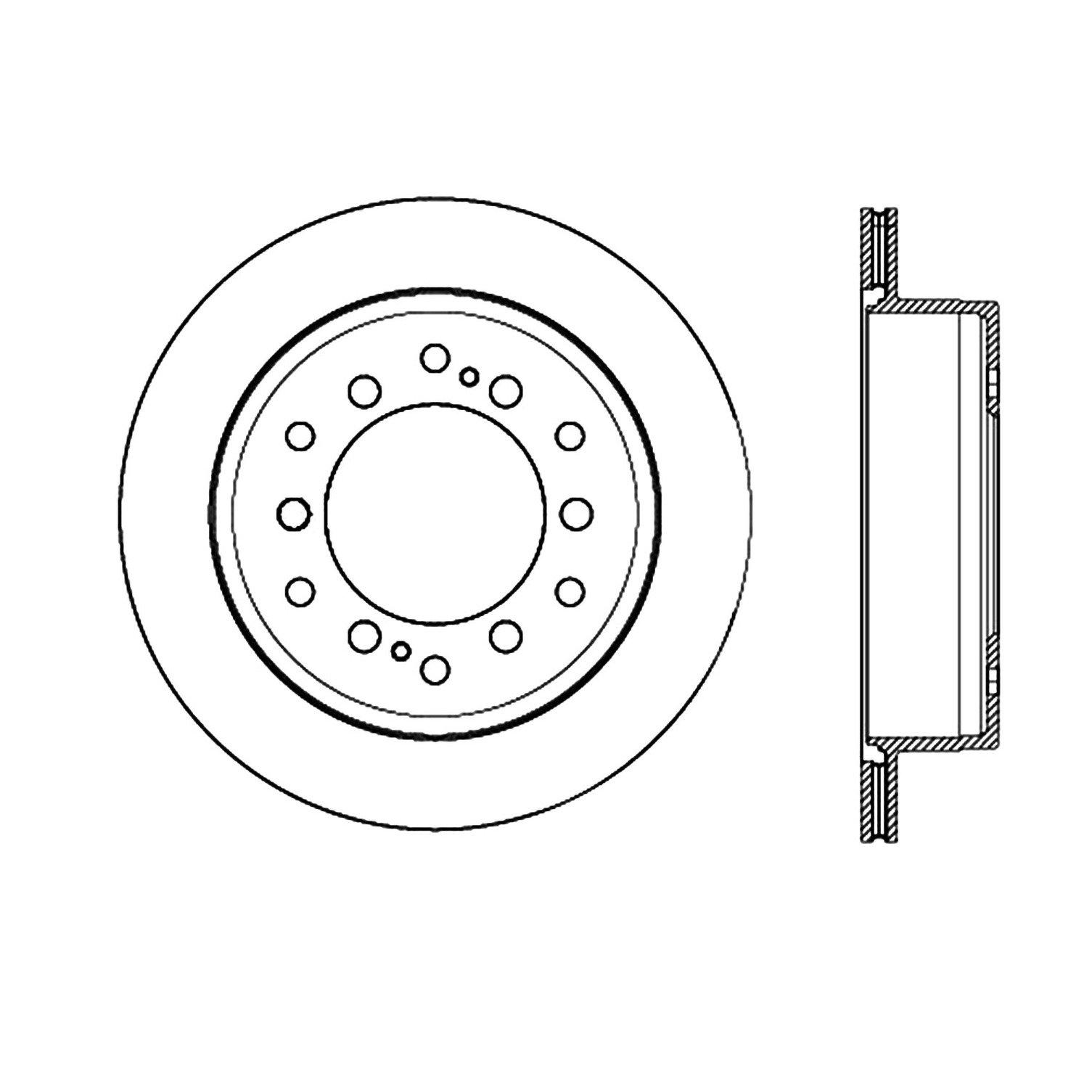 2013 toyota 4runner disc brake rotor autopartskart 1984 Toyota SR5 2013 toyota 4runner disc brake rotor ce 120 44175