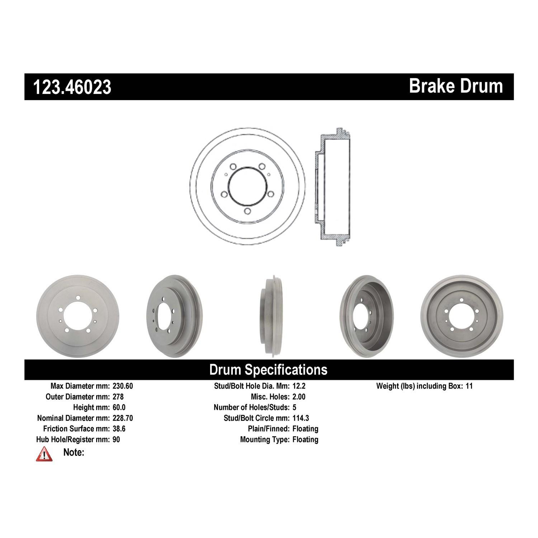 Bendix Premium Drum and Rotor PDR0780 Rear Brake Drum