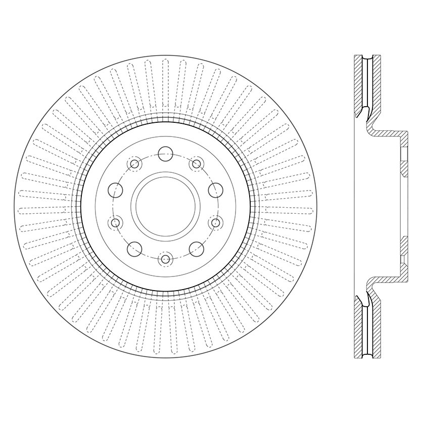 2018 Chevrolet Camaro Disc Brake Rotor