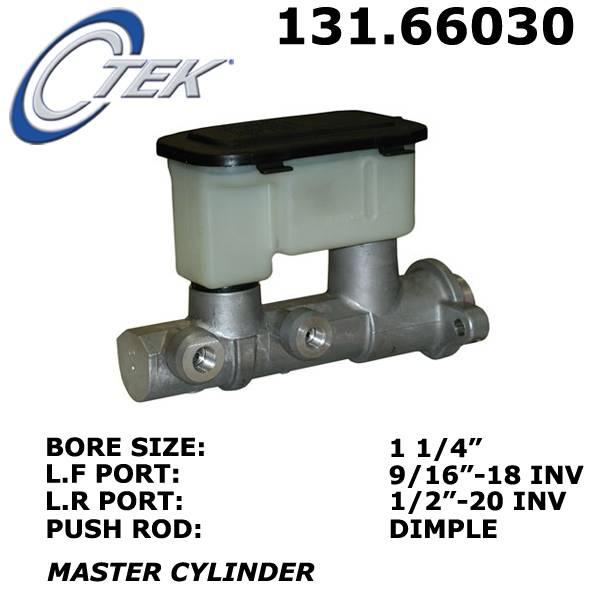 1999 GMC K2500 Suburban Brake Master Cylinder Centric 131 66030