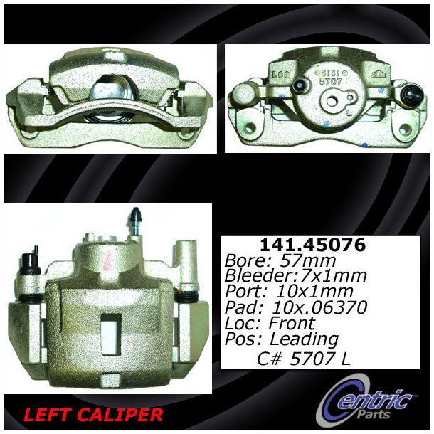 Disc Brake Caliper-Friction-Ready Caliper with Bracket Front Right fits Pickup