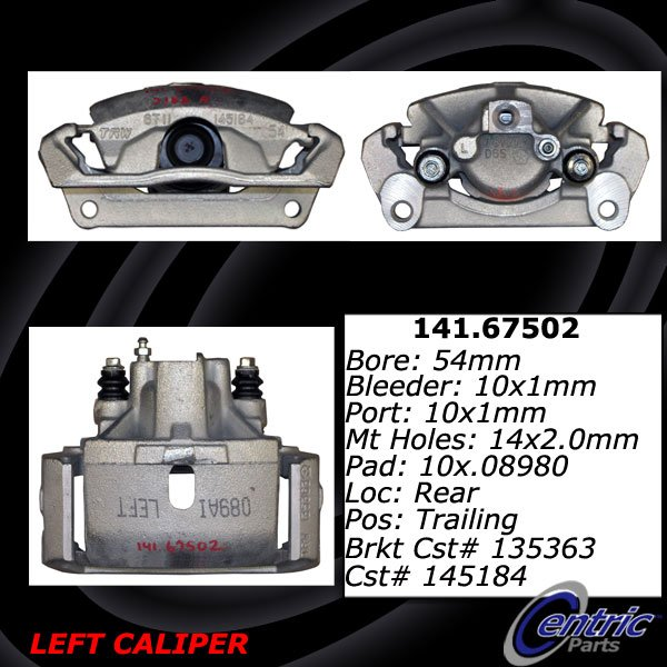 Centric 141.67502 Semi Loaded Caliper