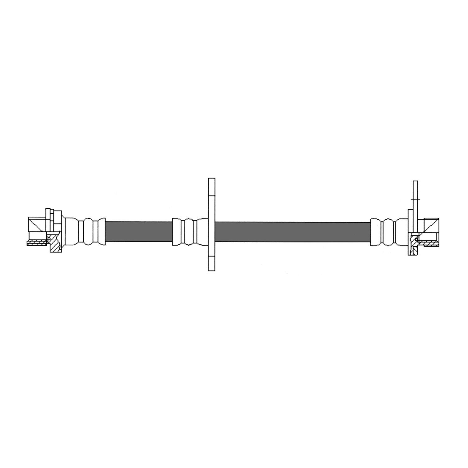 ... 2003 Toyota Sequoia Brake Hydraulic Hose CE 150.44395 ...