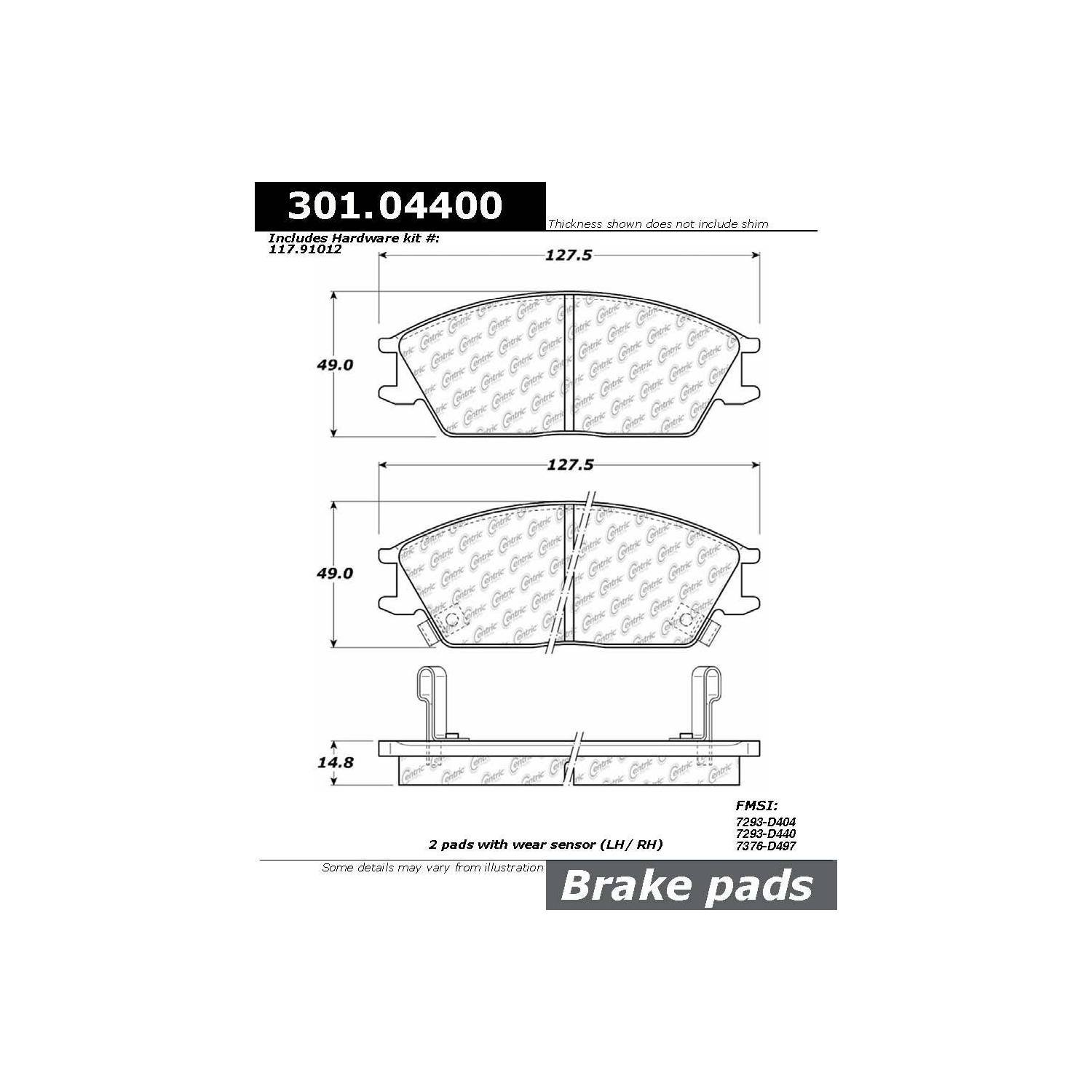 Mitsubishi Precis Engine Diagram Manual Guide Wiring 1992 Galant Disc Brake Pad Set Autopartskart Com Rh Montero 35 38l