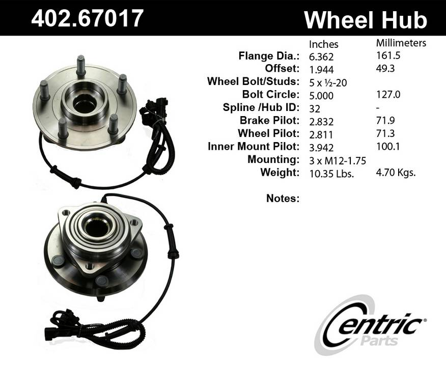 2013 Jeep Wrangler Axle Bearing and Hub Assembly | AutoPartsKart com
