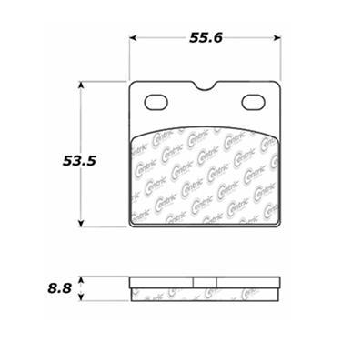 Parking Brake Pad Set CE 102.09710