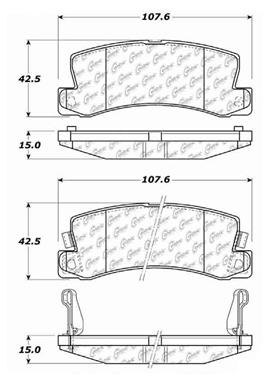 1990 Toyota Camry Disc Brake Pad Set CE 103.03250