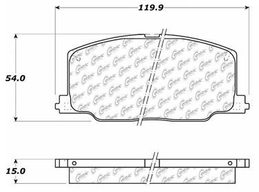 1990 Toyota Camry Disc Brake Pad Set CE 103.03560