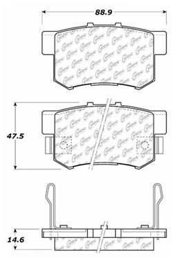 1995 Honda Accord Disc Brake Pad Set CE 103.05370
