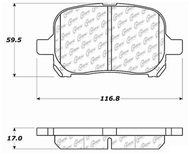 1998 Toyota Camry Disc Brake Pad Set CE 103.07070