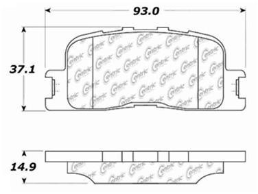 2003 Toyota Camry Disc Brake Pad Set CE 103.08850
