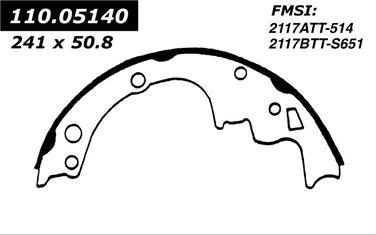 1993 Oldsmobile Bravada Drum Brake Shoe CE 110.05140