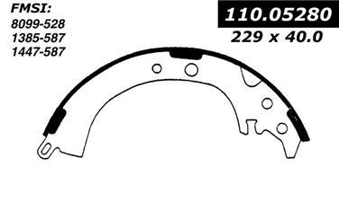 1989 Toyota Camry Drum Brake Shoe CE 111.05280