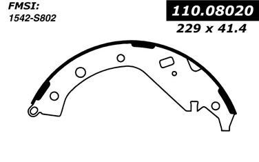 2005 Toyota Camry Drum Brake Shoe CE 111.08020