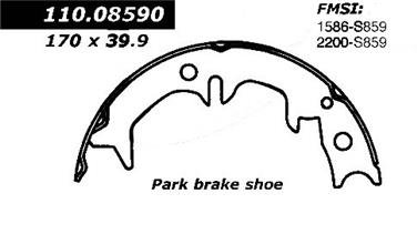 1993 Toyota Camry Parking Brake Shoe CE 111.08590