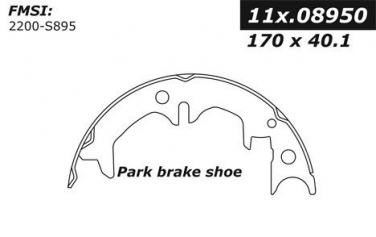 1989 Toyota Camry Parking Brake Shoe CE 111.08950