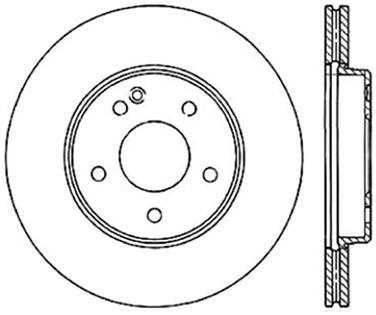 1997 Mercedes-Benz C230 Disc Brake Rotor CE 121.33043